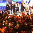 MOSCOW, MARCH 28: Audience and performers during a taping of KVN - one of most popular Russian TV-shows on March 28, 2008 in Moscow, Russia. - Stockfoto