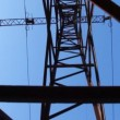 Stock Video: Transmission line, vertical panning