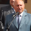 Moscow, Russia , July 28 Mayor of Moscow, Yuri Luzhkov  giving speech at the opening of the new apartment building July 28, 2009 in Moscow, Russia. - Stock Photo