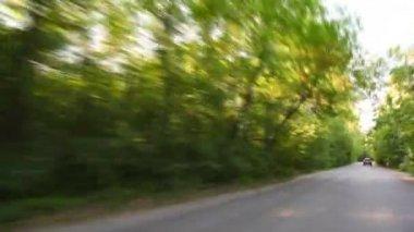 タイムラプス車公園によって駆動 — ストックビデオ