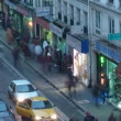 Small Parisian street, the top view. Paris, France. Time lapse. — Stock Video #18471861