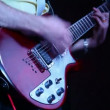 Unidentified guitarist musician live on stage — Stock Video