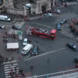 Brisk crossroads in the center of Paris. France. Time lapse. Blurred advertising, license plates, faces, titles — Stock Video