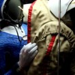 Stock Video: Spacesuit in Memorial Museum of Cosmonautics