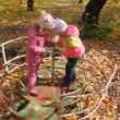 Boy and girls playing on playground — Stock Video