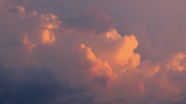 Movement of clouds on sky — Stock Video