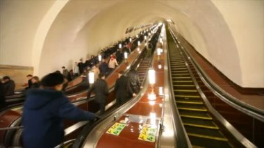 Moscow Metro - number one metro in world — Stock Video