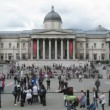 Many tourists on square in London, England. — Stock Video