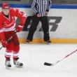 Hockey match Spartak-Almaz of MHL in sports palace Sokolniki  — Stock Video