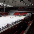 "Beginning junior hockey match ""Spartak""-""Almaz"" of MHL in sports palace ""Sokolniki"" — Stock Video"