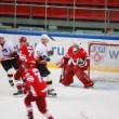 "Announcement of team on junior hockey match ""Spartak""-""Almaz"" of MHL — Stock Video"
