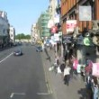 Trip on solar streets in Dublin, Ireland. — Vídeo de stock