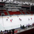 "Dangerous moment at ""Almaz"" net on junior hockey match ""Spartak""-""Almaz"" — Stockvideo"