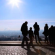 Looks at Paris from Montmartre hill, Paris, France — Stock Video