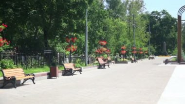 Russian Federation, Moscow, sunny day, memorial to the defenders of the motherland — Stock Video