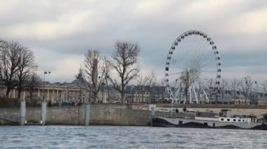 Big wheel in Paris, France — Stock Video