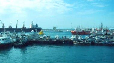 Work in port in Al Fujayrah, UAE — Stock Video