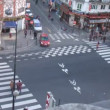 Stock Video: Brisk crossroads near subway station Chateau dEau in Paris, France.