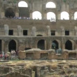 Stock Video: Amphitheatre of the Coliseum Rome, Italy.