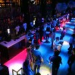 Stock Video: View from about on dancing and sitting at bar in nightclub