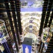 Main hall in Evropeisky Mall  in Moscow, Russia.  — Stock Video