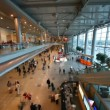 Interior of hall of airport Domodedovo in Moscow, Russia. — Stock Video
