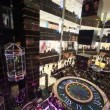 Top view on central hall with elevators of shopping center European in Moscow — Stock Video