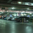 Underground parking in shop in Moscow, Russia. — Stock Video