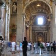 Are in basilica di San Pietro (San Pietro church) in Vatican City, Rome. — Stock Video