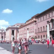 Are on international pilgrimage in Vatican City, Rome, Italy. — Stock Video
