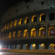Highway, Coliseum at night. Rome, Italy. — Stock Video