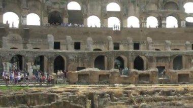 Amphitheatre of the Coliseum Rome, Italy. — Stock Video