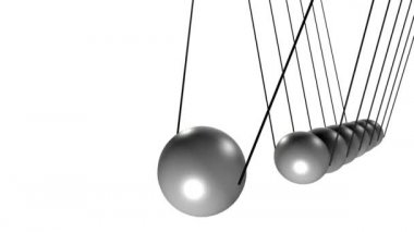 Pendulum with balls — Vídeo de stock