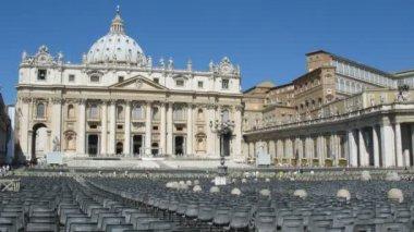 サン ピエトロ教会、ローマ、イタリア — ストックビデオ