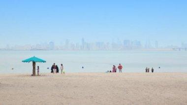 Visión general en la playa — Vídeo de Stock