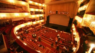Expect to view in historic building of Moscow Operetta Theater. — Stock Video