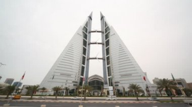 Bahrain World Trade Center in Manama, Bahrain — Stock Video