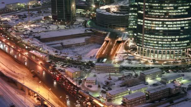 Zanja para terminal multifuncional del Centro Internacional de negocios de Moscú, Moscú — Vídeo de stock
