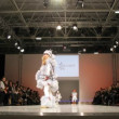 Childs demonstrate clothes during Collection Première Moscow — Stock Video