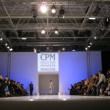 Stock Video: Men demonstrate SlavZaytsev collection during CPM show