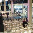 Stock Video: People wait for French Fashion Evening to begin in Jewelry House Estet