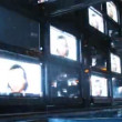 Big video panel consisting from many TV sets, time lapse — Stock Video