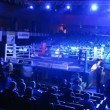 Stock Video: Spectators take places before WSB boxing match