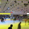 People skate on ice rink European — Stock Video