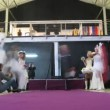 Parade of brides during The world of wedding and prom - 2011 — Stok video