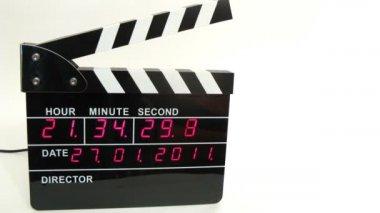 Vista frontal en negro tablilla electrónica, lapso de tiempo — Vídeo de Stock
