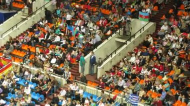 Spectators at XXX World Rhythmic Gymnastics Championships — Stock Video