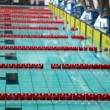 Sportswomen start to swim on open championship of swimming — Stock Video #27980731