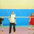 Training of volleyball players — Stock Video