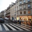 Stock Video: Streets and homes with showcases in Paris
